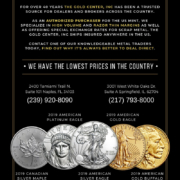 The Gold Center 2019 Silver, Gold, Platinum Coins Flyer