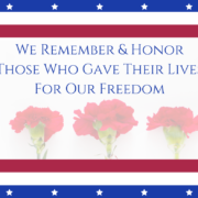 Remembering and Honoring Memorial Day 2019
