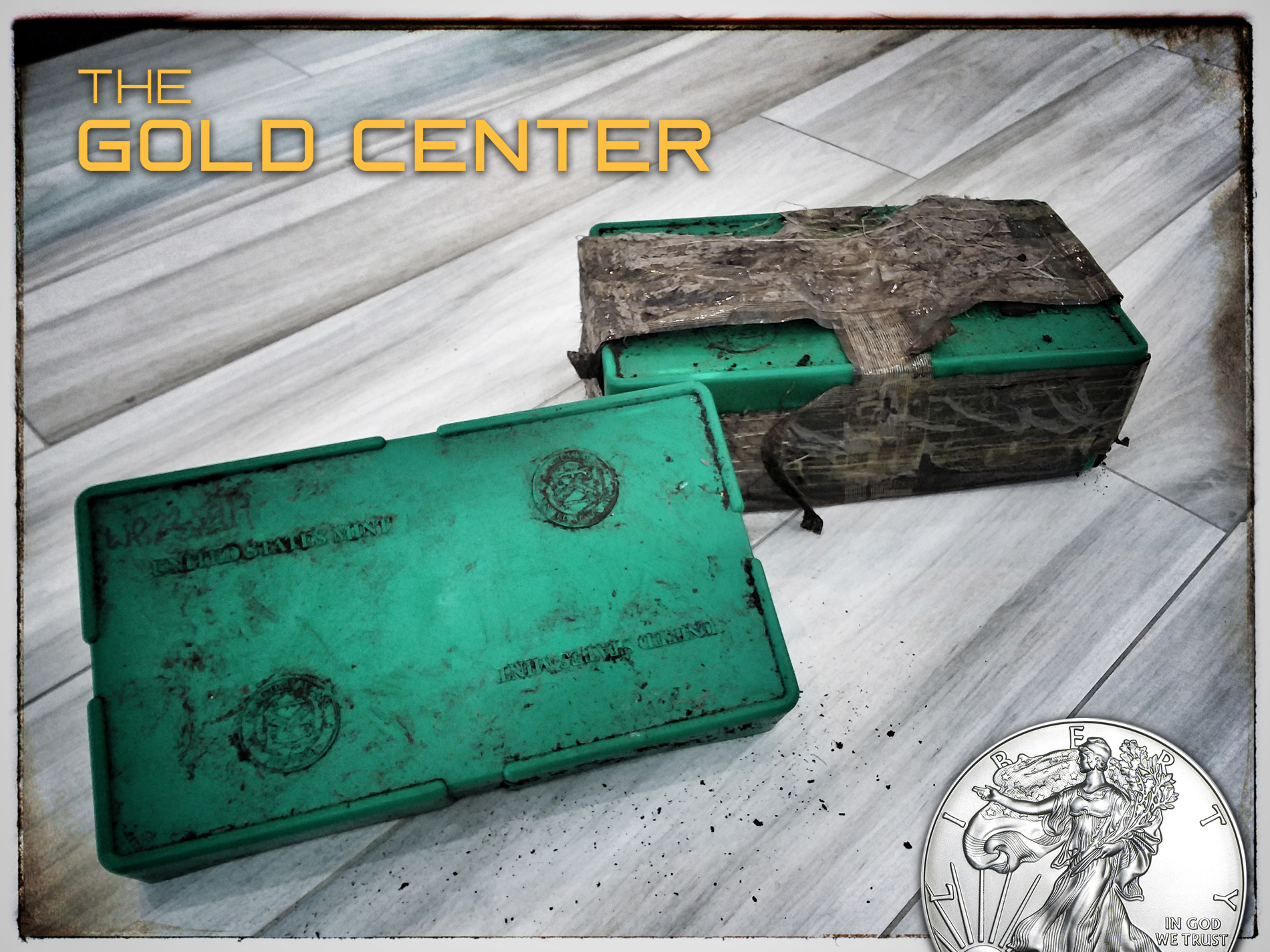 Buried American Silver Eagle Monster Box